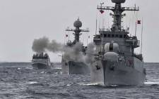 FILE: South Korean navy vessels taking part in a naval drill off the east coast of South Korea. Picture: AFP