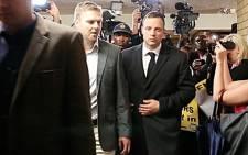 Oscar Pistorius leaving the High Court in Pretoria on 10 March 2014. Picture: Aletta Gardner/EWN
