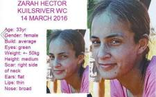 Two men have appeared in court as suspects in the murder of Zarah Hector. Picture: Pink Ladies Facebook page.
