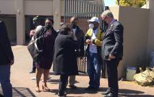 The ANC on Wednesday arriving at the home of former MKMVA president and Deputy Defence and Military Veterans Minister Kebby Maphatsoe. Picture: Veronica Makhoali/Eyewitness News.