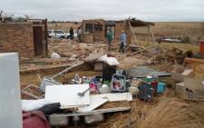 Strong winds wreak havoc in Oranjeville, Free State.