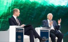 Prince Williams interviews TV naturalist David Attenborough at the World Economic Forum in Davos on 22 January 2019. Picture: Twitter/@KensingtonRoyal