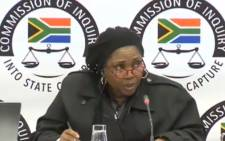 FILE: A YouTube screengrab of Mahikeng entrepreneur Babadi Tlatsana appearing at the state capture inquiry.