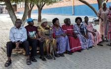 Namibians wait in line to access a polling station during the Namibian Presidential and parliamentary elections on 27 November 2019 in Windhoek, Namibia. Picture: AFP
