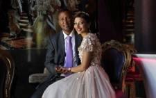 FILE: Mandla Mandela with his new wife, Rabia. Picture: Twitter @mandlamandela.