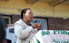 Minister of Basic Education Angie Motshekga visited Pholosho Primary School in Alexandra on the first day of the 2013 academic year. Picture: Sebabatso Mosamo/EWN