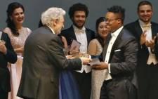 Levy Sekgapane's wins the Operalia World Opera Competition. Picture: Twitter @KazakhEmbassy.