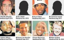 File Picture: Victims of apparent gay killings in South Africa.
