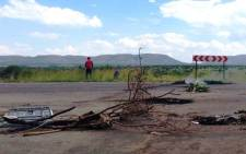 The site of a service delivery protest in Mothutlung, North West, where two protesters were shot dead, allegedly by police on 13 January 2014. Picture: Lesego Ngobeni/EWN Picture: Lesego Ngobeni/EWN.