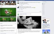 Cricket South Africa's Facebook page was hacked.