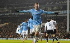 Manchester City's forward, Edin Dzeko, celebrates after scoring against Tottenham Hotspur in the English Premier League on 29 January 2014. Picture: Facebook.