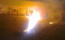 Two warders at the Groenpunt Prison in Deneysville in the Free State were injured in a prison protest in which inmates set part of the facility on fire on 7 January, 2013. Picture: Supplied.