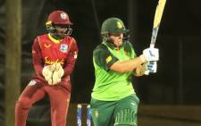 South Africa's Lizelle Lee in action against the West Indies Women's cricket team on 13 September 2021. Picture: @OfficialCSA/Twitter