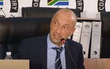 Former Eskom board member Mark Pamensky at the state capture commission of inquiry on Thursday, 11 February 2021. Picture: YouTube screengrab