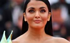 """Indian actress Aishwarya Rai Bachchan poses as she arrives for the screening of the film """"A Hidden Life"""" at the 72nd edition of the Cannes Film Festival in Cannes, southern France, on 19 May 2019. Picture: AFP"""