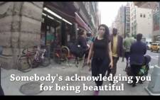 Woman walking through NYC. Picture: Screengrab, video.