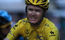 2013 Tour de France winner Christopher Froome crossing the finish line. Picture: AFP
