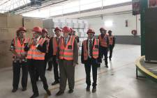 Trade and Industry Minister Rob Davies visiting the Hisense Atlantis factory on 18 March 2019. Picture: Kaylynn Palm/EWN