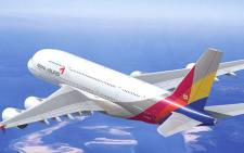 FILE: An Asiana Airlines A380. Picture: Asiana Airlines.