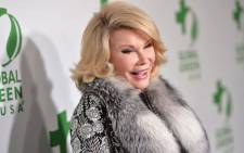 Comedian Joan Rivers. Picture: AFP.
