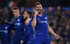 Chelsea's Olivier Giroud celebrates his goal against Slavia Prague in their UEFA Europa League match on 18 April 2019. Picture: @ChelseaFC/Twitter