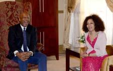 Minister of International Relations and Cooperation Lindiwe Sisulu visited the Maseru Bridge Border and met with the His Majesty King Letsie III. Picture: Dirco.