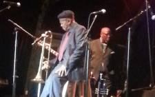 Jonas Gwangwa performing at the 15th Cape Town International Jazz Festival on 29 March 2014. Picture: Lindiwe Mlandu/EWN