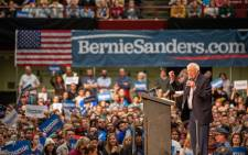 FILE: Democratic presidential hopeful Vermont Senator Bernie Sanders addresses a rally at The Saint Paul River Centre on 2 March 2020 in Saint Paul, Minnesota, on the eve of 'Super Tuesday' Democratic presidential primaries. Picture: AFP.