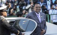 Namibian president Hage Geingob at Loftus stadium for the inauguration of Cyril Ramaphosa as the sixth democratically elected president. Picture: Abigail Javier/EWN.