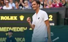 Russian Daniil Medvedev Daniil Medvedev at Wimbledon. Picture: Twitter/@DaniilMedwed