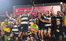 Barbarians players celebrate their win over Brazil on 20 November 2019. Picture: @Barbarian_FC/Twitter