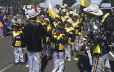 Troupes getting ready to march through the streets of Cape Town. Picture: Natalie Malgas