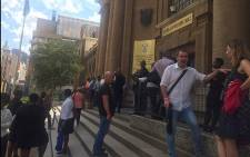 The High Court in Johannesburg was evacuated after an apparent bomb threat on 22 February 2016. Picture: Gia Nicolaides/EWN.
