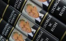 Former US President George W. Bush's book 'Decision Points,' went on sale on 9 November 2010. Photo: Saul Loeb/AFP