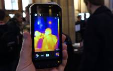 The Cat S60, the world's first smartphone with a thermal imaging sensor. Picture: Screengrab via Android Police/YouTube.