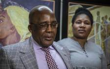 Home Affairs Minister Aaron Motsoaledi apologises to marriage fraud victim Nomathamsanqa Swartbooi for what happened to her. Fourteen years ago, Swartbooi found out her ID was duplicated and was married to someone she never met. Picture: Abigail Javier/EWN