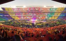 Beyonce, Chris Martin of Coldplay and Bruno Mars lit up the stage during the 2016 Super Bowl halftime show. Picture: Coldplay/Facebook.