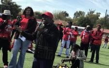 The SA Communist Party's Madoda Sambatha. Picture: Masechaba Sefularo/EWN.
