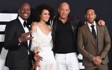 (L-R): Actors Tyrese Gibson, Nathalie Emmanuell, Vin Diesel and Ludacris attend the premiere of Universal Pictures' 'The Fate Of The Furious' at Radio City Music Hall on April 8, 2017 in New York City. Picture: AFP