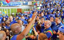 DA supporters welcome party leader Mmusi Maimane in Kimberley during the opposition party's election campaign in the province. Picture: @Our_DA/Twitter.