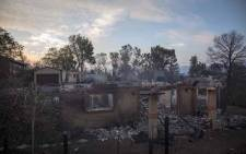 FILE: Residential plots, some for sale, some sold, burnt after the fire ripped through the area. Picture: Thomas Holder/EWN