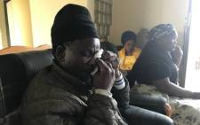 Uyathandwa Stuurman's grandfather, John Mvula, in tears following the death of the four-year-old girl. Picture: Lauren Issacs/EWN