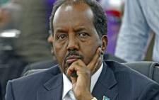 Somalia's President Hassan Sheikh Mohamud looks on in Mogadishu on 10 September, 2012. Picture: AFP