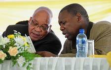ANC President Jacob Zuma and ANC Treasurer General Zweli Mkhize. Picture: EWN.