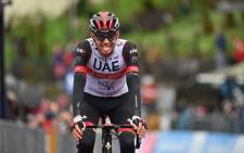 UAE Team Emirates rider Joe Dombrowski won the fourth stage of the Giro d'Italia on 11 May 2021. Picture: @giroditalia/Twitter