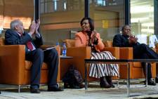 A file photo of George Nene, right, seated next to Maite Nkoana-Mashabane, centre, and Aziz Pahad. Picture: Dirco.