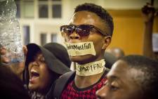 Students occupied the University of Cape Town's administration buildings, protesting against institutional racism. Picture: Thomas Holder/EWN