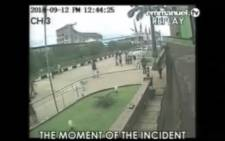 Lagos church collapse caught on camera.  Picture: Youtube