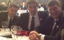 Pascal Gaüzère (Assistant referee), Jerome Garces (referee) and Graham Hughes (TMO). Picture: Supplied