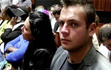FILE: Radovan Krejcir's son Dennis and wife Katerina Krejcirova in the Palm Ridge Magistrates Court during his bail hearing on 4 December 2013. Picture: Christa van der Walt/EWN.